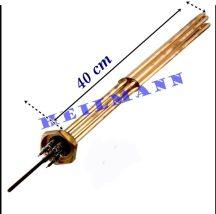 """Kazán fűtőbetét  3 x 2000 W  6/4""""  L= 390mm"""