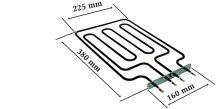 Villanytűzhely sütőbetét   230 V 2500W ILVE - EGO 20.25551.000 , A45878  grill