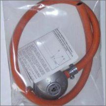 Gáztűzhelyhez PB nyomáscsökkentő komplett tömlövell + 2 db. bilincs (nem állítható) 1fm.