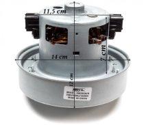 Porszívó motor Samsung 1600 W univerzális fémházas szélkeréknél csőrrel  Pl.: VCC4550V ; VCM-K70GU ; DJ31-00005H helyett ) Pl.: SC4780 ; SC4321 ; SC84 60-80