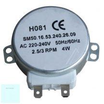 Mikrohullámú sütőhöz tányér motor  tengely =6mm, 4W, 220/240V, 50/60Hz, 5/6rpm,