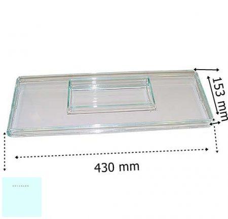 Zanussi - Electrolux hűtő előlap tárolódobozhoz  H153 mm  750  242633506/9  ;  242633501/0