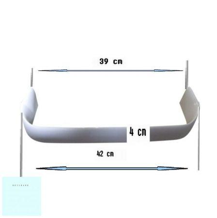 Zanussi - Electrolux - AEG hűtő italtartó korlát alacsony 2061953226 eredeti  (42 x 4 cm) (rendelésre)