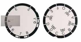 Energomat kapcsológomb felirat szám + betű 9 prg