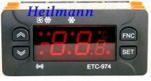 Elitech digitális hűtésvezérlő ID 974 helyett  2 NTC ETC-97
