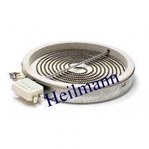 Kerámialapos főzőlap 1700W 230V (1 körős) Whirlpool - Indesit - Zanussi 480121101516,  C00390174 Pl.: AKR105/IX