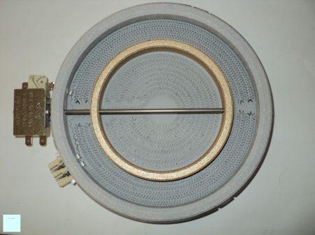 Zanussi - Electrolux  kerámialapos főzőlap D120/180, 1700 W, 230 V   ( 2 körös ) 374075421/7