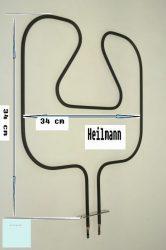 Zanussi - Electrolux - AEG sütő fűtőtest alsó 240 V 1000 W 3970125013 # eredeti, gyári Pl.: ZOB891QX ; BMX316 ; ZOU332X #