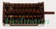 Zanussi tűzhely sütő kapcsoló  9 + 0  állású (funkcióválasztó) ELECTROLUX ZOB482XQ 3570597017 , 3570444020  (rendelésre)