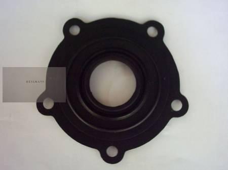 Olasz bojler alaplap tömítés Ø75mm (5 lyukas füles,-fekete 13 cm)