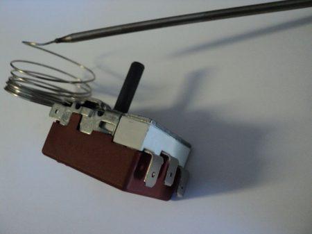 Hőmérséklet szabályozó 3 polúsú 4125-0-053-3  (50-250C) fritőz  ( 3 sarus )