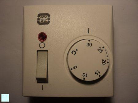 Szoba termosztát PT 101 főkapcsolós kivitel