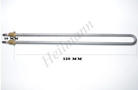 Fűtőbetét U alakú 230 V 800W ( Ipari kávéfőző ) d:8,5;L:320mm;B:300mm  ételmelegítő , ételmelegentartó fűtőbetét
