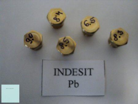 Gáztűzhely fúvóka garnitúra   Indesit     Pb gázhoz    ( menet átmérő 7 mm régi típus )