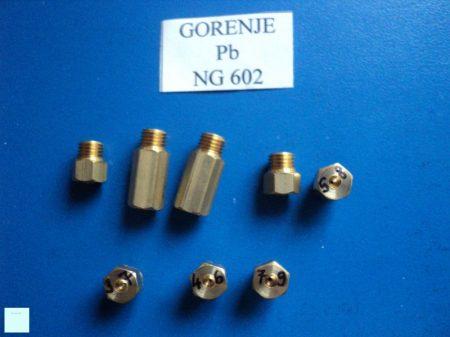 Gáztűzhely fúvóka garnitúra Gorenje NG602 Pb gázra (6mm)