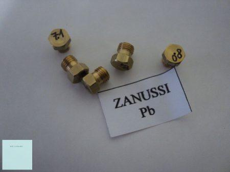 Gáztűzhely fúvóka  5 db-os garnitúra  legújabb Zanussi tűzhelyhez  ( menetátmérő  6 mm ) PB gázhoz