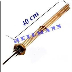 """Kazán fűtőbetét  3x2000W   2"""" L=400mm + tömítés"""