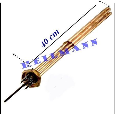 """Kazán fűtőbetét 3x2000 W  6/4""""  L= 400mm + tömítés"""