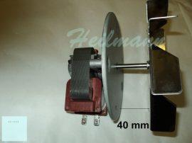 Villanytűzhely sütőventilátor 43 mm tengellyel ( légkeveréses ventilátor 43mm )