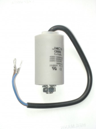 Kondenzátor 450 V 1,0 mF kábel + csavar 30x55 mm