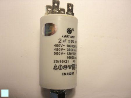 Kondenzátor 450 V 2,0 MF sarus+csavar 32 x 55 mm