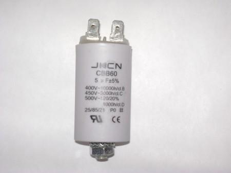 Kondenzátor 5µF 450V sarus + csavar Ø30x57mm.