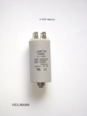 Kondenzátor 450 V 6,0 mF sarus + csavar Ø30x57mm