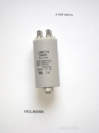Kondenzátor 450 V 10,0 mF sarus + csavar Ø35x65mm.