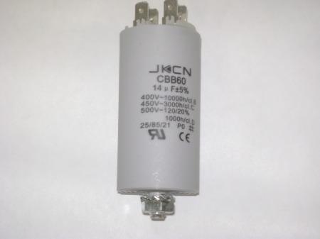 Kondenzátor 450 V 14,0 mF sarus + csavar Ø35x65mm.