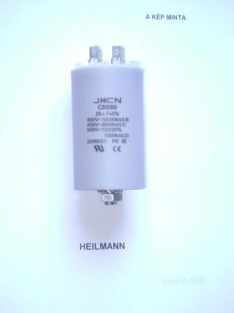 Kondenzátor 450 V 25,0 mF sarus + csavar Ø40x95mm.
