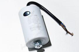 Kondenzátor 450 V 30,0 mF kábel + csavar Ø40x95mm.