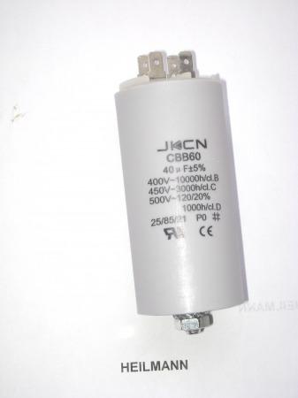 Kondenzátor 450 V 40,0 mF sarus + csavar Ø45x95mm.