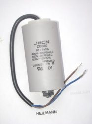 Kondenzátor 450 V 60,0 mF kábel + csavar Ø50x106mm.
