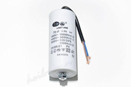 Kondenzátor 450 V 70,0 MF kábel+csavar  Ø50x120mm.
