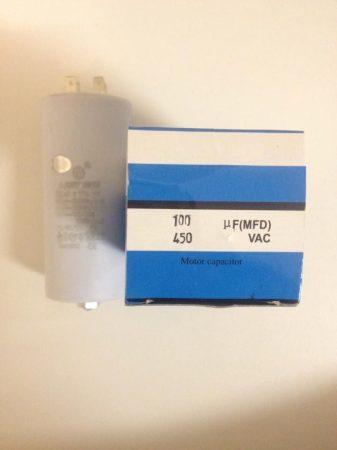 Kondenzátor 450 V 100.0 MF sarus+csavar Ø55x120mm.