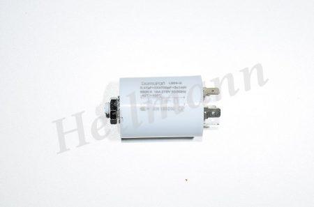 Zavarszűrő kondendzátor 0,47 µF    5 kivezetéses   0,47µF (X2) + 0,68M Ohm, 2x0,010µF(Y2), 2 x 1,0mH,16A, 250V, 50-60Hz, 40°C