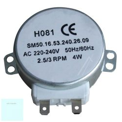 Mikrohullámú sütő tányér motor # (tengely =6mm, 4W, 220/240V, 50/60Hz, 5/6rpm) #