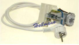 Indesít mosógép zavarszűrő kondenzátor + tápvezeték  2 sarus C00259297 # eredeti, gyári WHIRLPOOL 482000030536 #