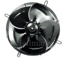 Axiális szellőztető ventillátor védőráccsal, szívó (szerelt) Ø 400mm  220V  1350rpm/min  50Hz  190W